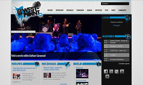 West-Point is dé website voor muziekliefhebbers uit West-Brabant